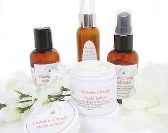 Hand lotion, natural lotion, moisturizer, body lotion, dry skin lotion, organic hand and body lotion, Delicate Orange 2 oz