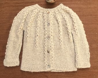 Alpaca sweater, Knitted sweater, Baby sweater, new born sweater. Custom order