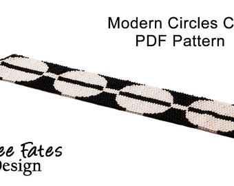 Pattern, Peyote, Seed Bead Bracelet, Cuff Bracelet, Beaded Bracelet, Peyote Bracelet, Modern Jewelry, PDF Pattern, Instant Download