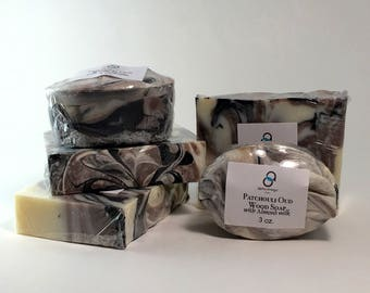 Patchouli Oud Wood Soap with Almond Milk and Activated Charcoal - Soap for Men - Charcoal Soap - Middle Eastern Scented Soap