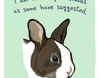 Rabbit 8x10 Print of Original Painting with phrase