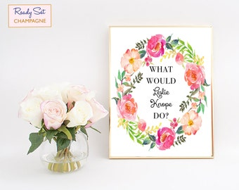 What Would Leslie Knope Do, Parks And Rec, Parks And Recreation Poster, Leslie Knope Print, Leslie Knope Quotes, Parks And Rec Poster, Art