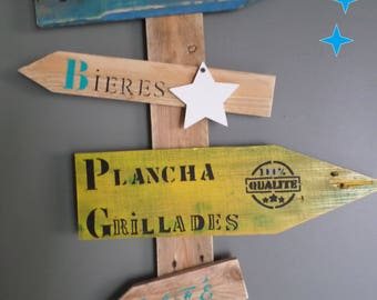 for an original decoration upcycled wooden arrows.