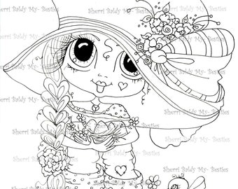 INSTANT DOWNLOAD Digital Digi Stamps Big Eye Big Head Dolls Bestie New Bestie Img538 My Besties By Sherri Baldy