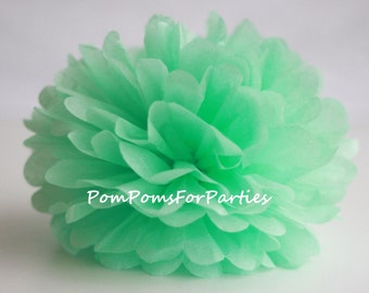 1 High Quality MINT Tissue Pom Pom - Choose any of 50 colours - Hanging  Paper flower - Tissue paper balls - Tissue paper pom poms
