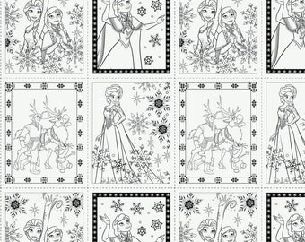 Frozen Coloring Book Pages In White Panel