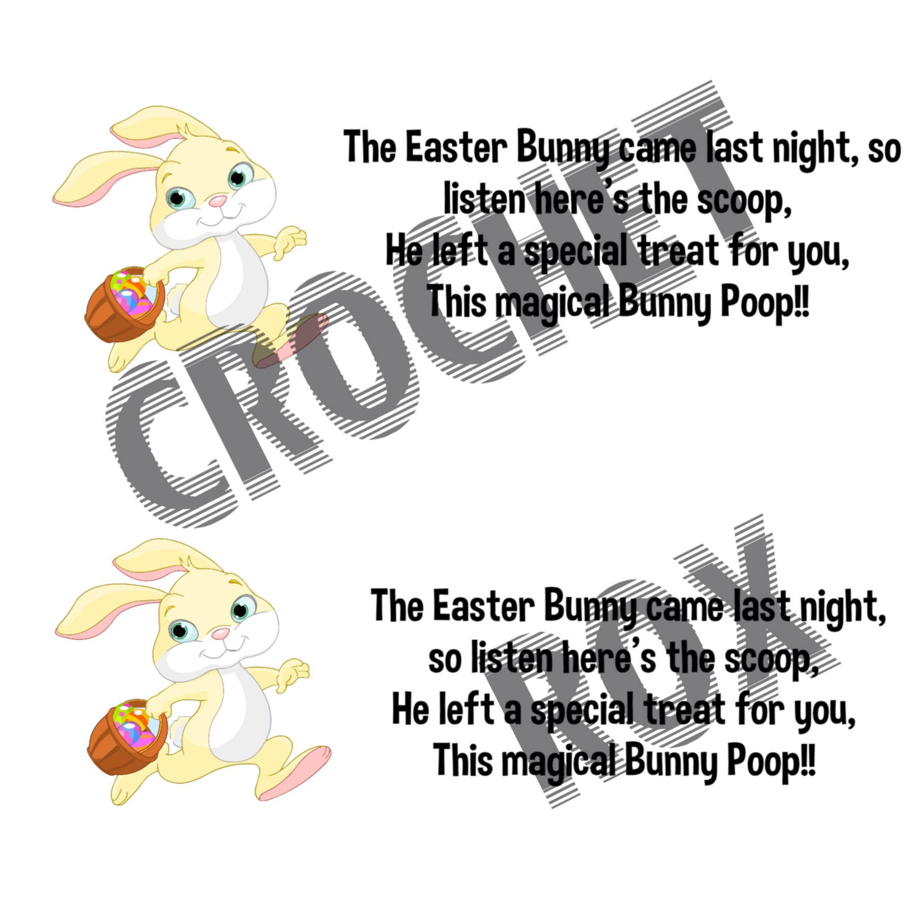 Crochet pattern easter bunny poop easterapril fools gag gift gift this is a digital file negle Gallery