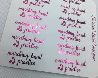 Marching Band Practice Planner Stickers