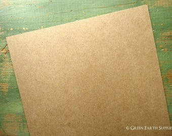 "25 11""x14"" THICK 50 pt chipboard sheets (279x355 mm) kraft brown chipboard, recycled, 50pt (.050"") 1mm thick, for protecting 11x14 prints"