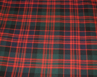 MacDonald Clan Modern tartan fabric. Poly viscose. Machine Washable. Price per half metre.