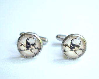 Jolly Roger - Mens Cuff Links Groomsmen Gifts Wedding Gifts