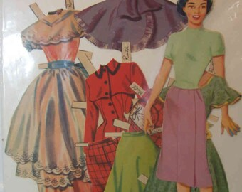 Vintage Prom Home Permanent Paper Dolls Lowe #1253