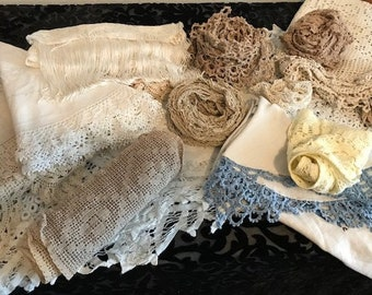 Yards of Vintage Embroidery, Needlework, and Material