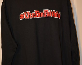 Nwt Offcially licensed University of Utah Long Sleeve Men's T-shirt Size XL #UteFanFaithful