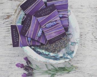 Adjustable Lavender Lampwork Wrap Bracelet Lavender Fields Colored Silk with Leaf Toggle