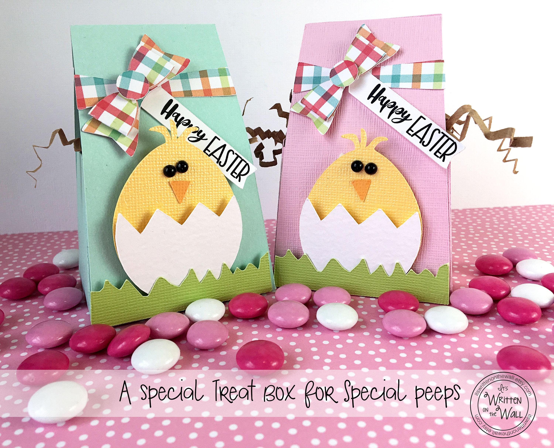 Kit easter chick treat box wraps kids easter basket zoom negle Choice Image