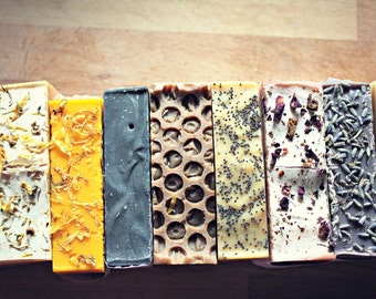 Four Bars of Soap, Your Choice // Happy Goats Soap Co.