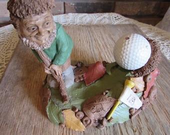 "1995 Tom Clark Gnome ""Little Ben"" Cairn item #5277"" Golfer."