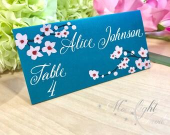 Japanese Cherry Blossom Place cards Spring Wedding Special Event