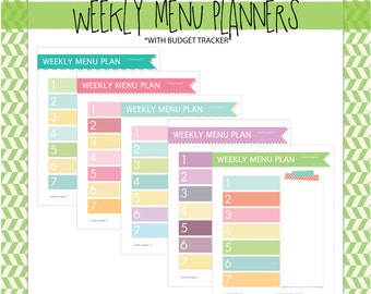 weekly menu and shopping list planner