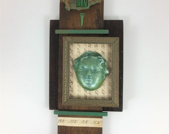 Is the Grass Always Greener?, Assemblage Art, Mixed Media Art