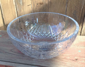 Vintage Rogaska Crystal Serving or Salad Bowl, Fine Crystal Rogaska Bowl, Gallia Pattern Rogaska Crystal Bowl, Fine Crystal Serving Bowl