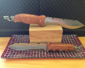 Drop Point Recurve Knives