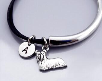 Yorkshire terrier bangle, Yorkie bracelet, Yorkie charm jewelry, Yorkshire terrier bracelet, Leather bracelet, Leather bangle