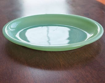 """Fire king Jadeite Restaurant Ware 9 3/4"""" Oval Platter. Excellent Condition. vintage - mid century Fire King Jadeite"""