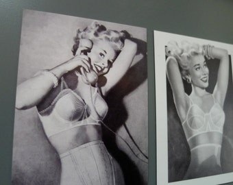 Set of Two Vintage Bra Ad Magnets
