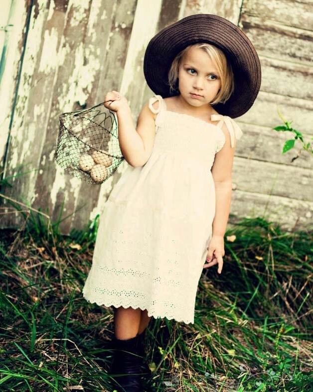 Rustic Flower Girl Dress... Cream Ivory Or White