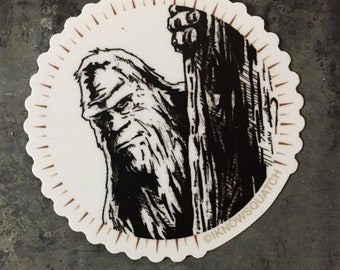 Bigfoot sticker Sasquatch sticker -- I know Squatch -- Sasquatch Vinyl Decal -- Bigfoot Sticker -- Bigfoot Decal -- Yeti Decal IKS