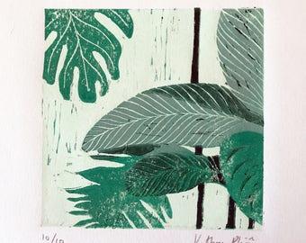 Tropical Linoprint