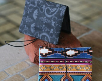 Pocket Wallet women's or men's with elastic strap of various colors and designs each @ 15.00