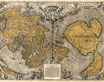 MP71 Vintage 1531 Historical Antique Old World Map Chart Poster Re-Print Wall Decor A1/A2/A3