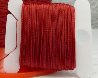 Red Silk Like Beaders Secret Knotting Thread Beading Stringing Sewing 20 yards Polyester