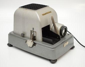 vintage HAPOLUX 60s West German slide projector industrial Mid Century Metal 1:2,8/85 Hapo-Luxar