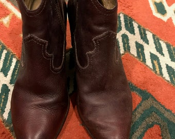 Frye Heeled Ankle Booties Brown Size 7.5