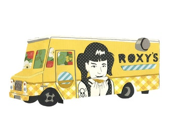 Roxy's Grilled Cheese 5x7 print - Boston Food Truck Love