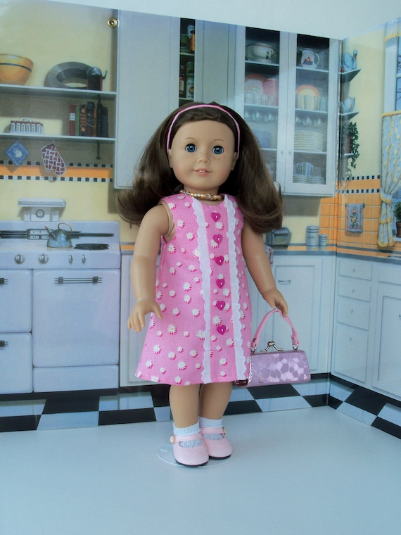 SUMMER SALE! 40% off! Summer Dress, Purse, Shoes and Socks/  Fits Like American Girl® Doll Clothes / 18 Inch Doll Clothes by Farmcookies