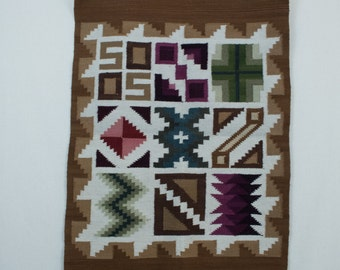 Vintage Ethnic Woven Kilim Rug Mat Wall Hanging Tapestry