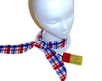 Cooling Neck Wrap Scarf, Gel Neck Cooler, Red White and Blue, Women's or Mens Neck Cooler, Neck Cooler Bandanna, Gift For Men or Women