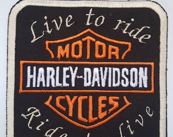 Harley patch and live to ride