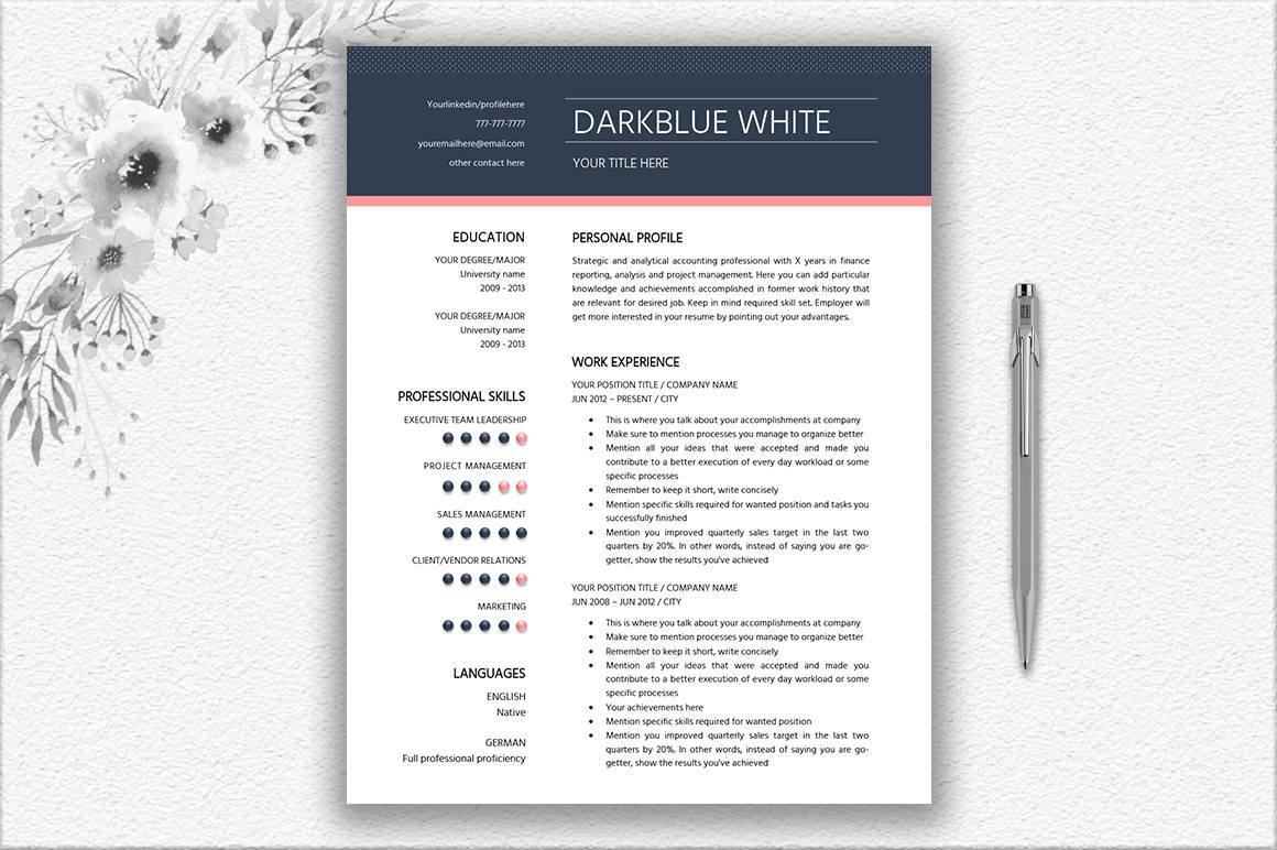 Plantilla CV personalizado diseño Editable en Word consejos