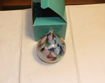 Vintage HAnd Blown Glass christmas Ornament