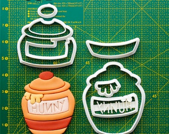 Honey Fondant Cutters Honey Cookie Cutter Frames Honey Party Honey Birthday Honey Fondant Molds Cookie Making Tools