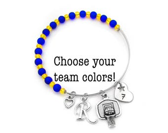 Basketball Bracelet, Girls Basketball Gifts, Basketball Gifts for Girls, Basketball Gifts, Basketball Team Gift, Basketball Jewelry