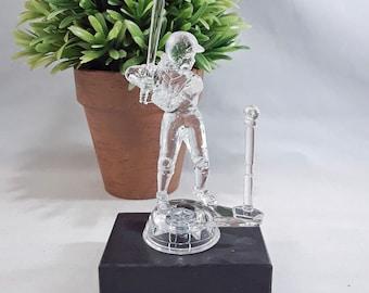 Clear Female T-Ball Trophy on Black Marble Base - Tee Ball Award - Kids Trophy - Tee Ball Team Awards
