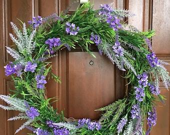 Spring Wreath | Lavender Wreath | Front Door Wreath | Outdoor Wreath | Summer Wreath | Wreath | Lavender Mix Wreath | Garden Wreath | purple