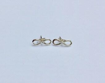 Sterling silver infinity earrings/infinity earrings/sterling silver infinity studs